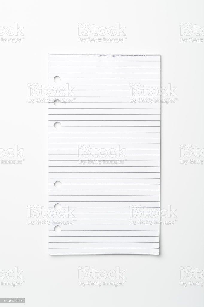 Blank sheet stock photo