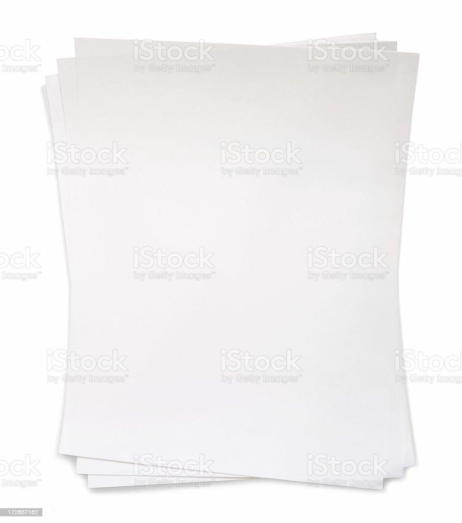 Blank Sheets royalty-free stock photo