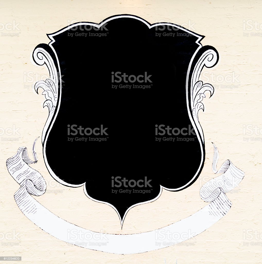 Blank shield stock photo