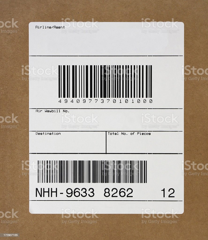 Blank Shipping Label stock photo