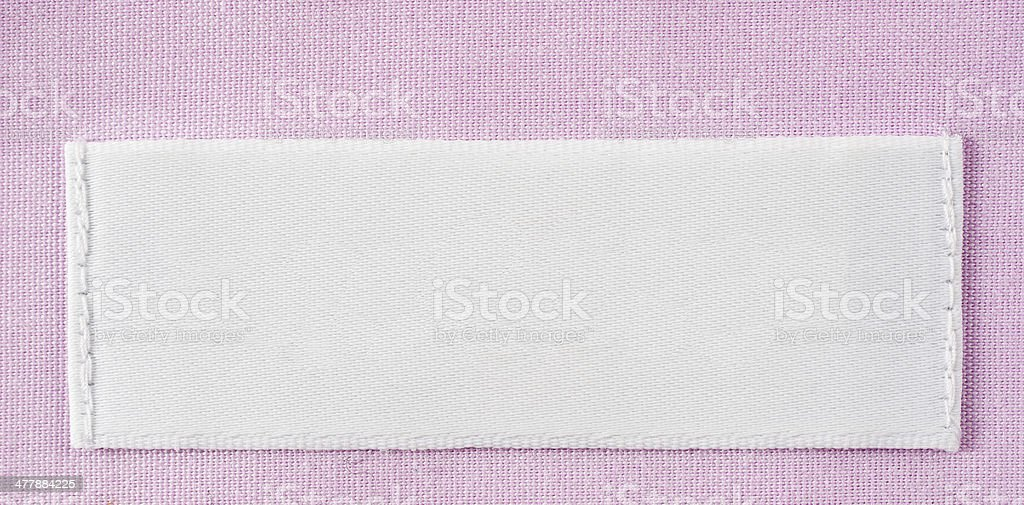 Blank shirt label stock photo