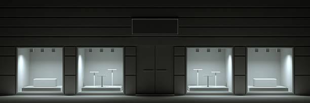 Blank showroom facade stock photo