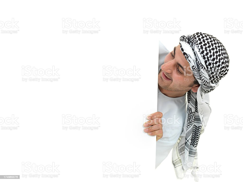 Blank Sign and Arabian Man royalty-free stock photo