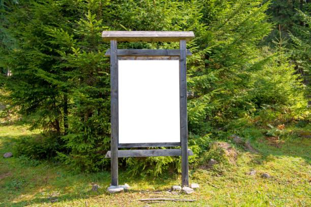 Leere Schild im park – Foto
