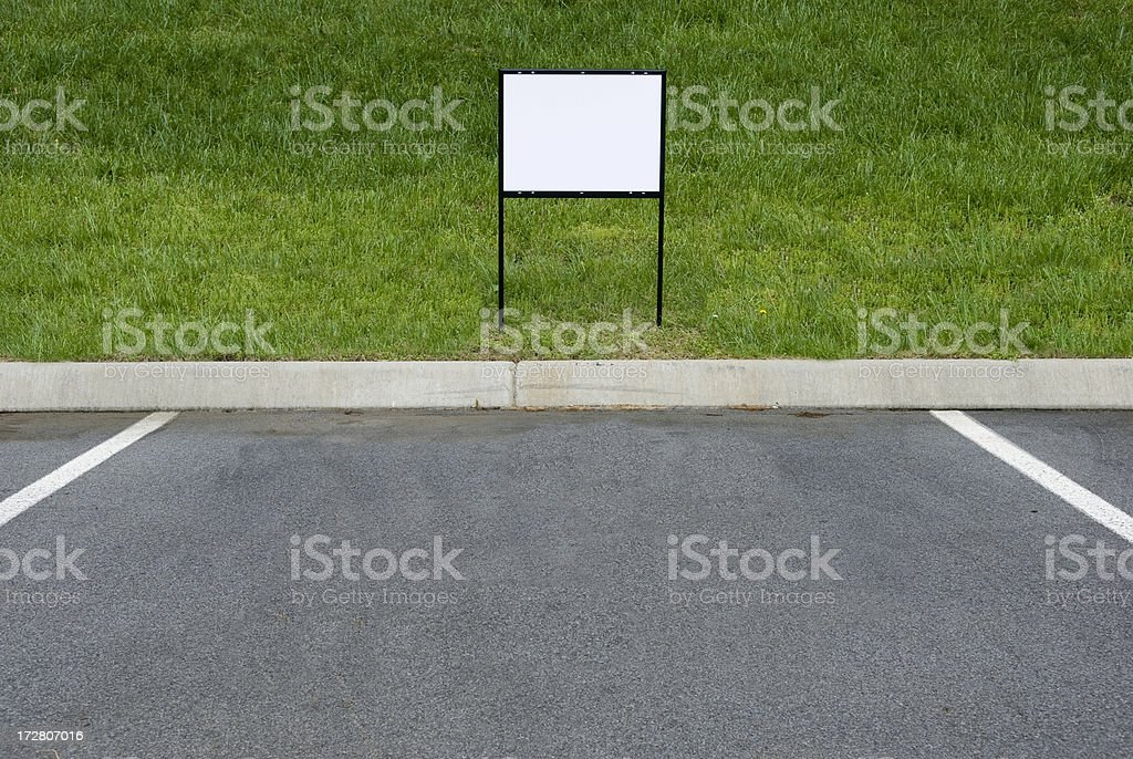 Blank Sign For Parking Place royalty-free stock photo