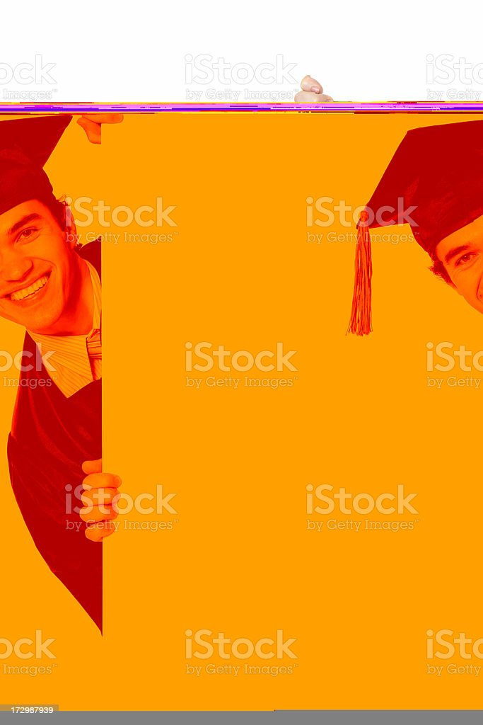 Blank sign - Graduate (on white) royalty-free stock photo