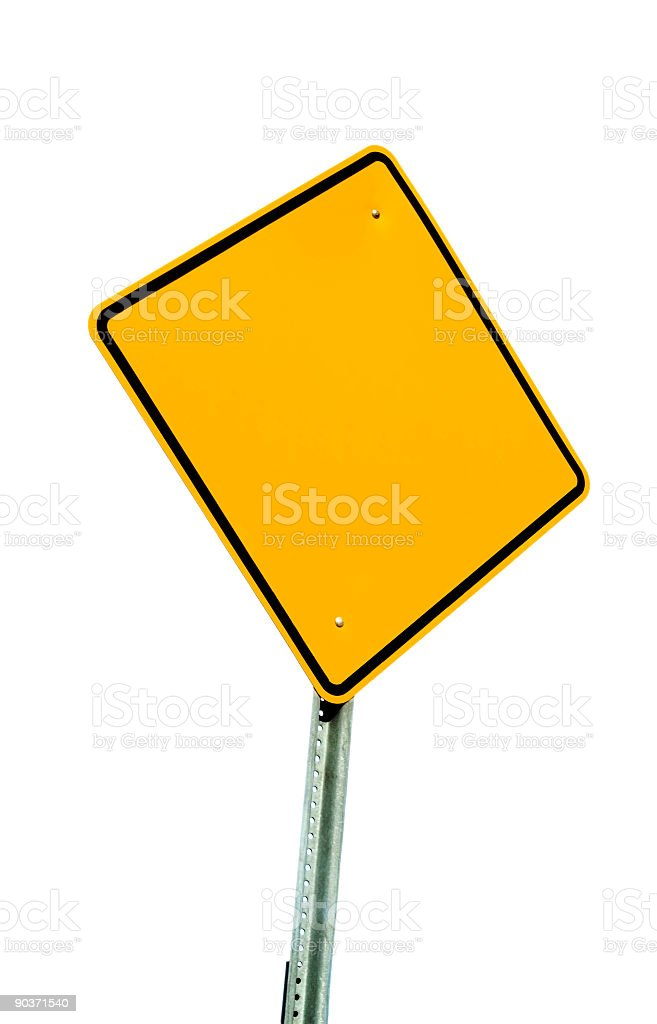 Blank Sign Isolated on White royalty-free stock photo