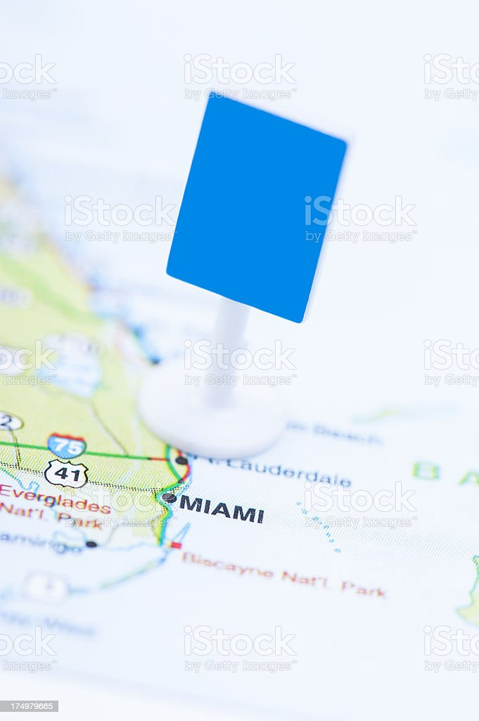 Blank sign near Miami royalty-free stock photo