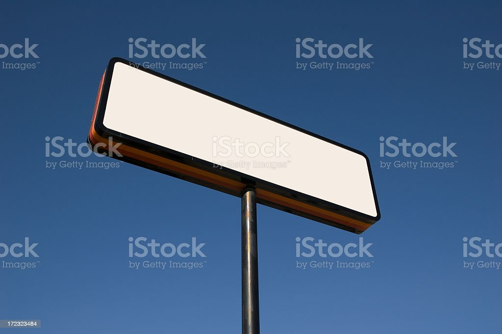 Blank Sign on blue(w/ 2 Clipping Paths) royalty-free stock photo
