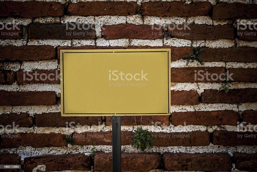 Blank Sign on Brick Wall XXXL