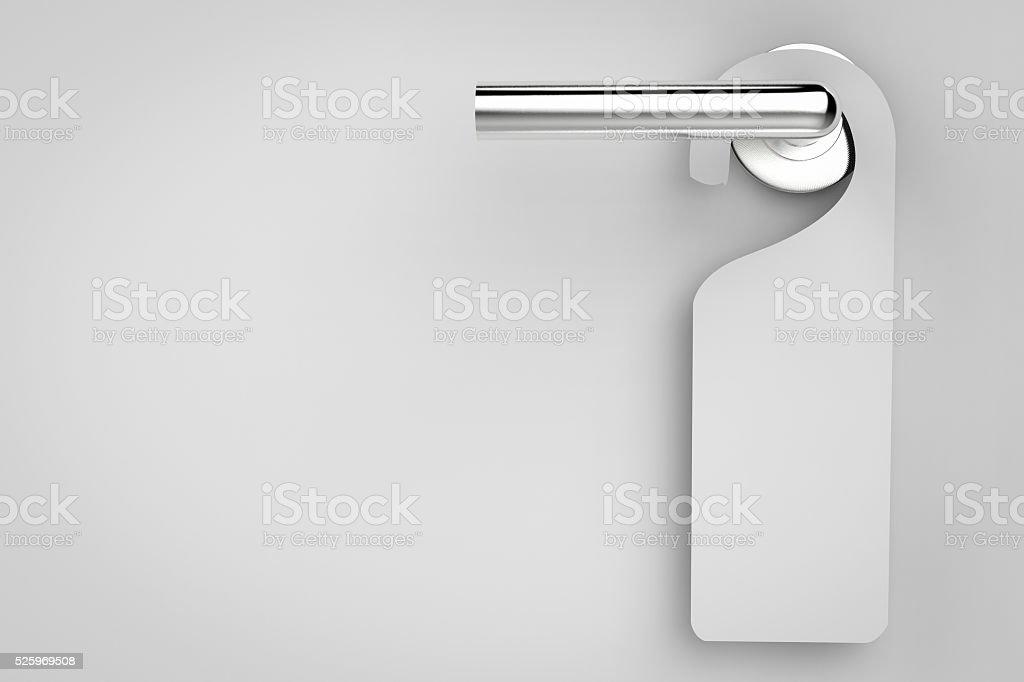 blank sign on door stock photo