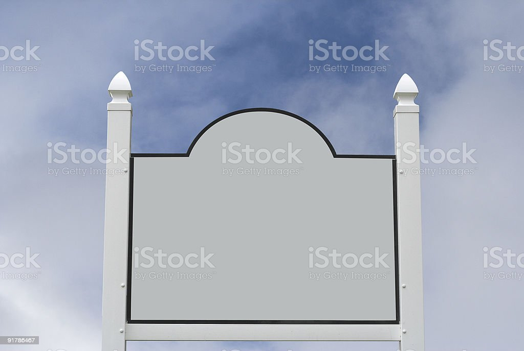 Blank Sign on Dramatic Sky stock photo