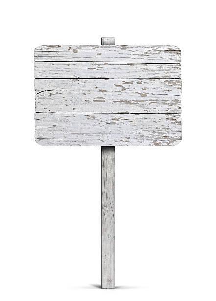blank sign - wood sign isolated bildbanksfoton och bilder