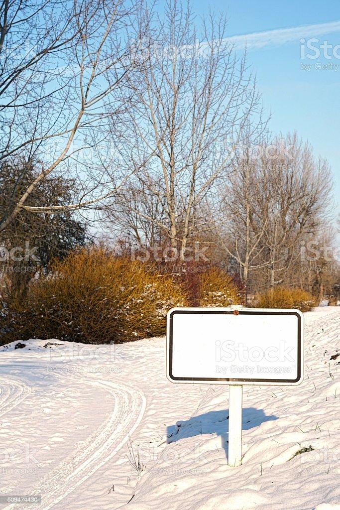blank sign stock photo