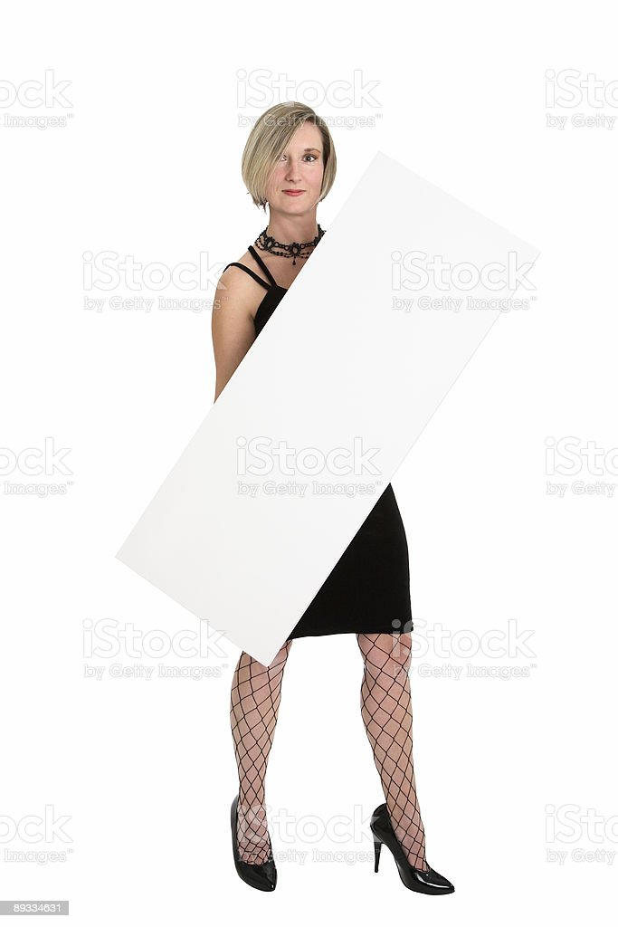Blank sign royalty-free stock photo