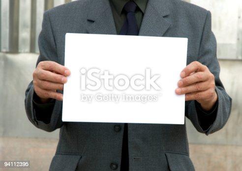 istock blank sign 94112395