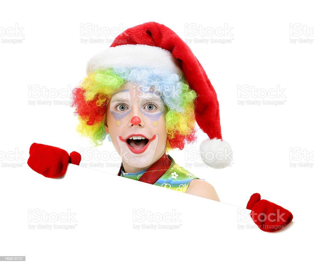 Blank sign - Santa clown royalty-free stock photo