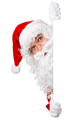 istock Blank sign - Santa (on white) 486921262