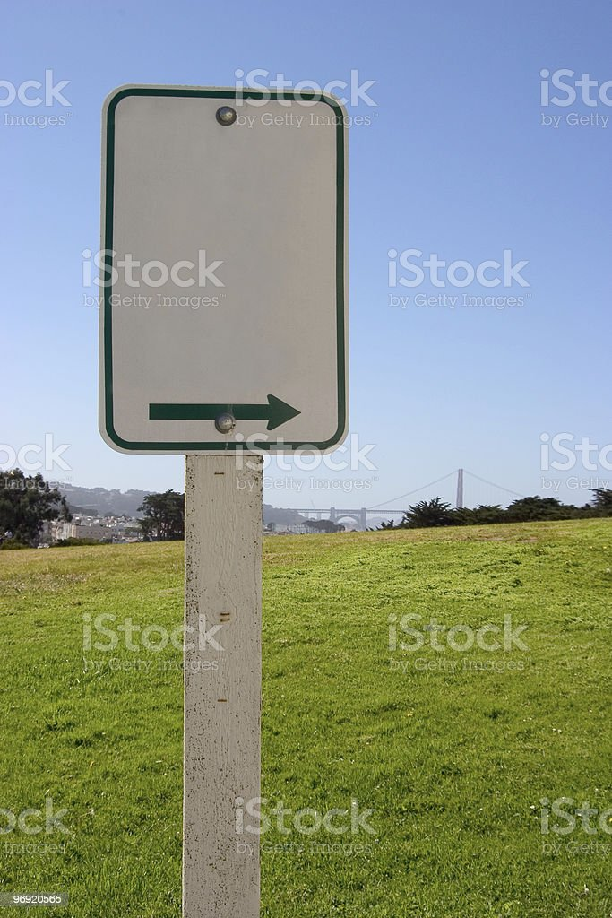 Blank Sign Scenic royalty-free stock photo