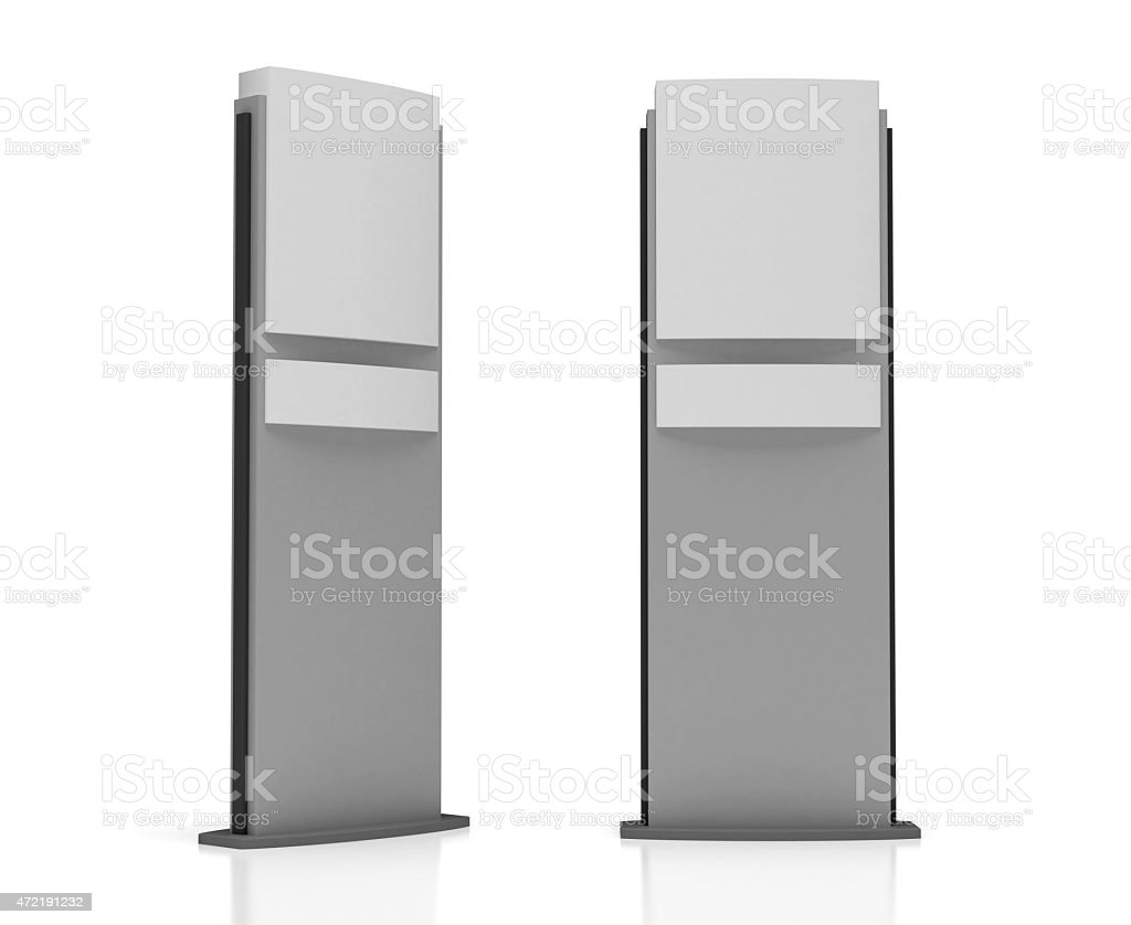 Blank Sign Tower stock photo