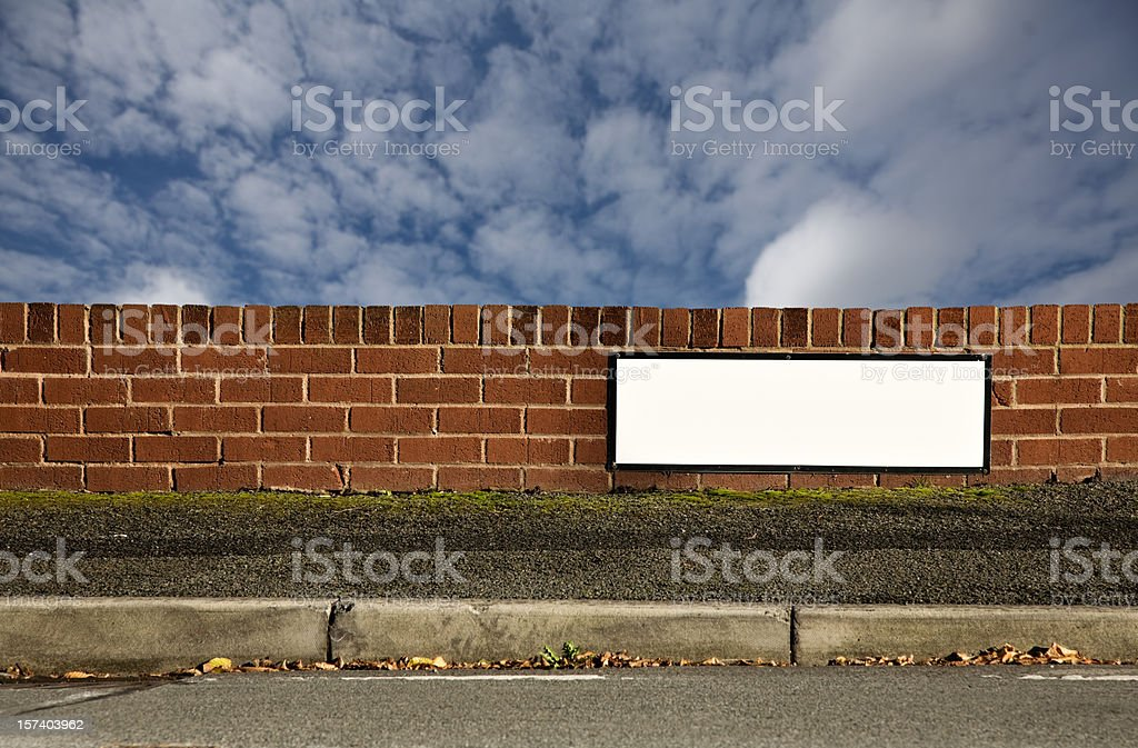 Blank Sign with Space for Name of Your Street.-More below royalty-free stock photo