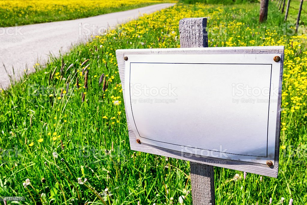 blank sign with space for text stock photo