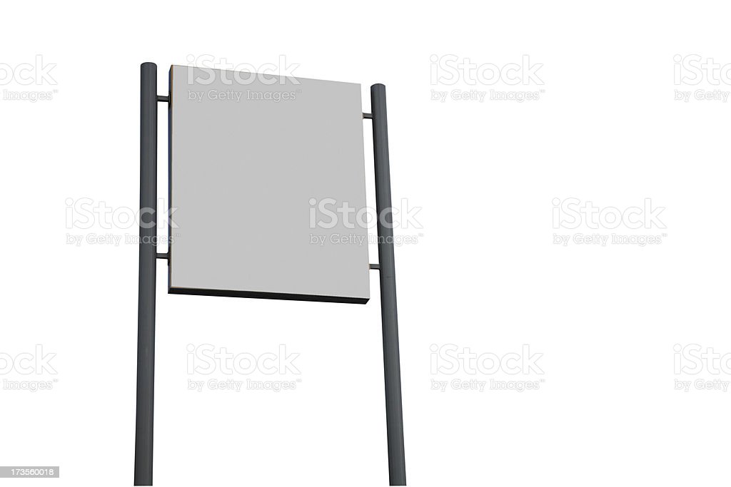 Blank Sign-Isolated on White-Click for more royalty-free stock photo