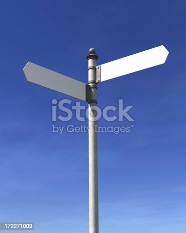 186103814istockphoto Blank signpost 172271009