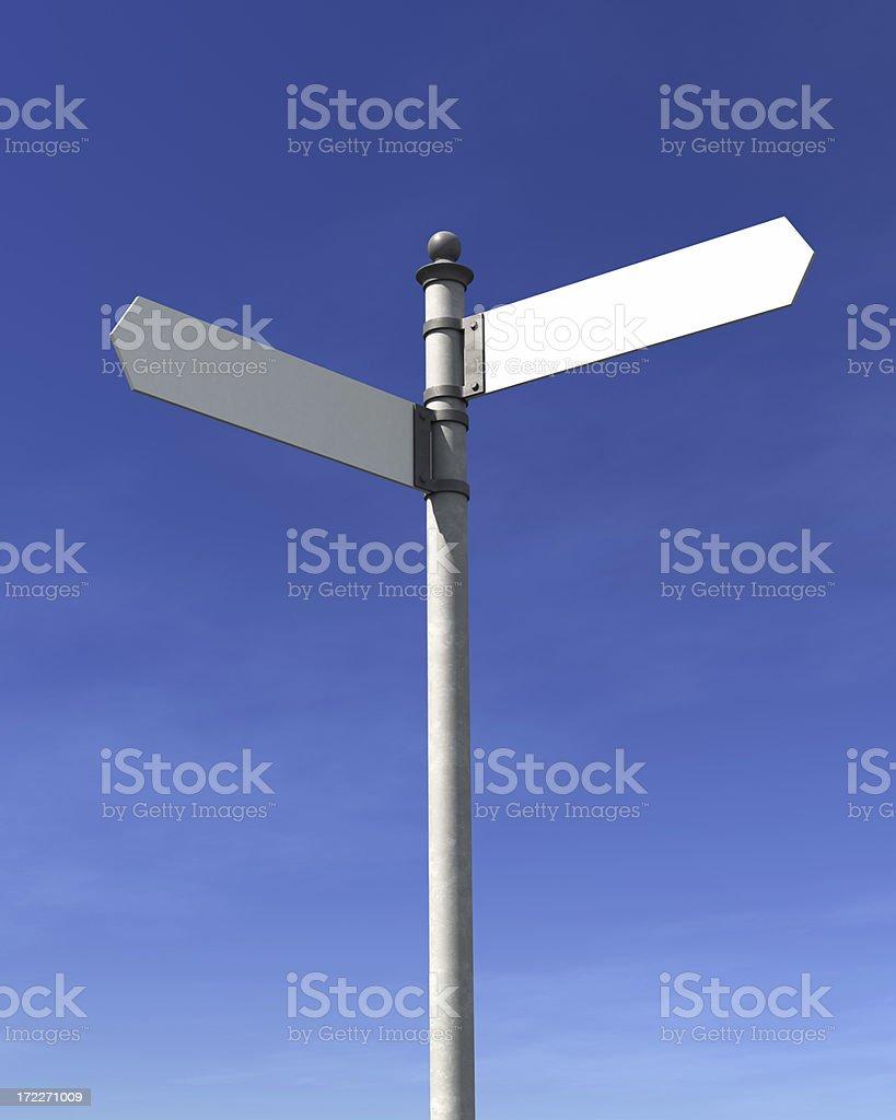 Blank signpost stock photo