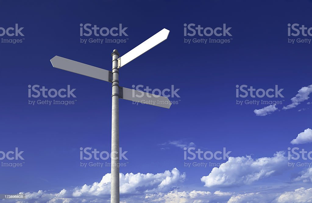 Blank signpost stock photo