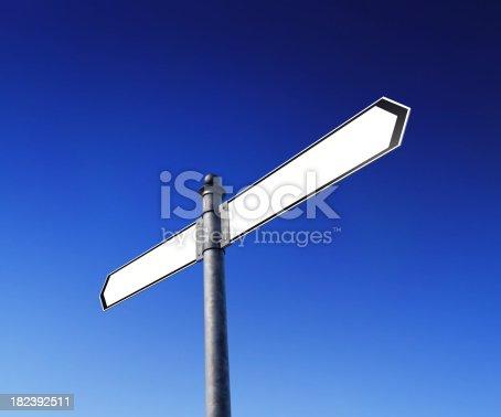 186103814istockphoto Blank signpost 182392511