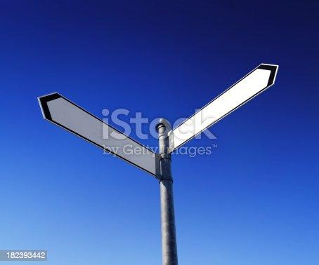 186103814istockphoto Blank signpost 182393442