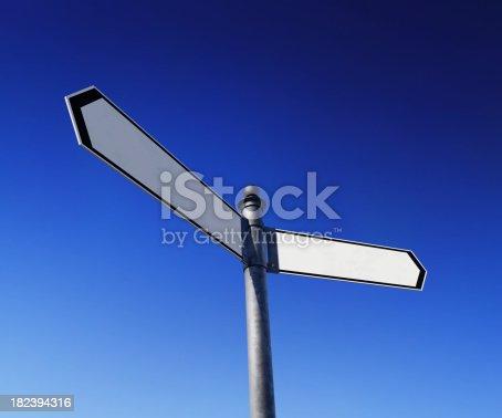 186103814istockphoto Blank signpost 182394316