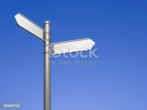 186103814istockphoto Blank signpost 182660703