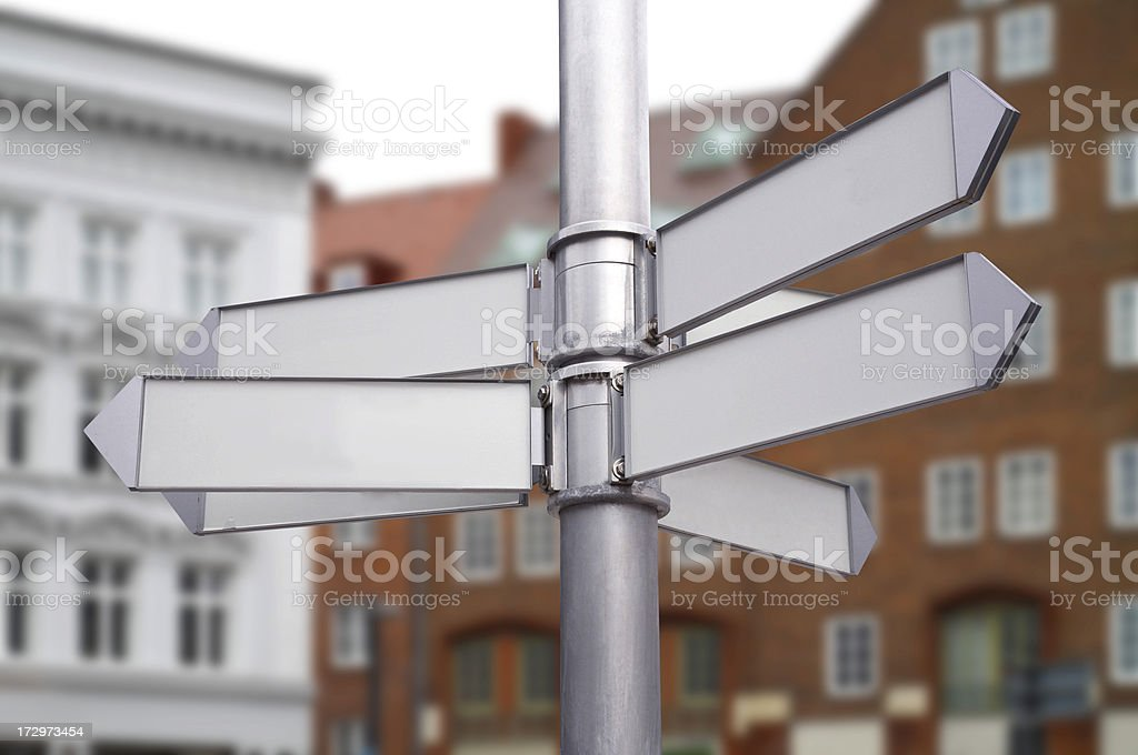 Leere Zeichen Straße in der Stadt Lizenzfreies stock-foto