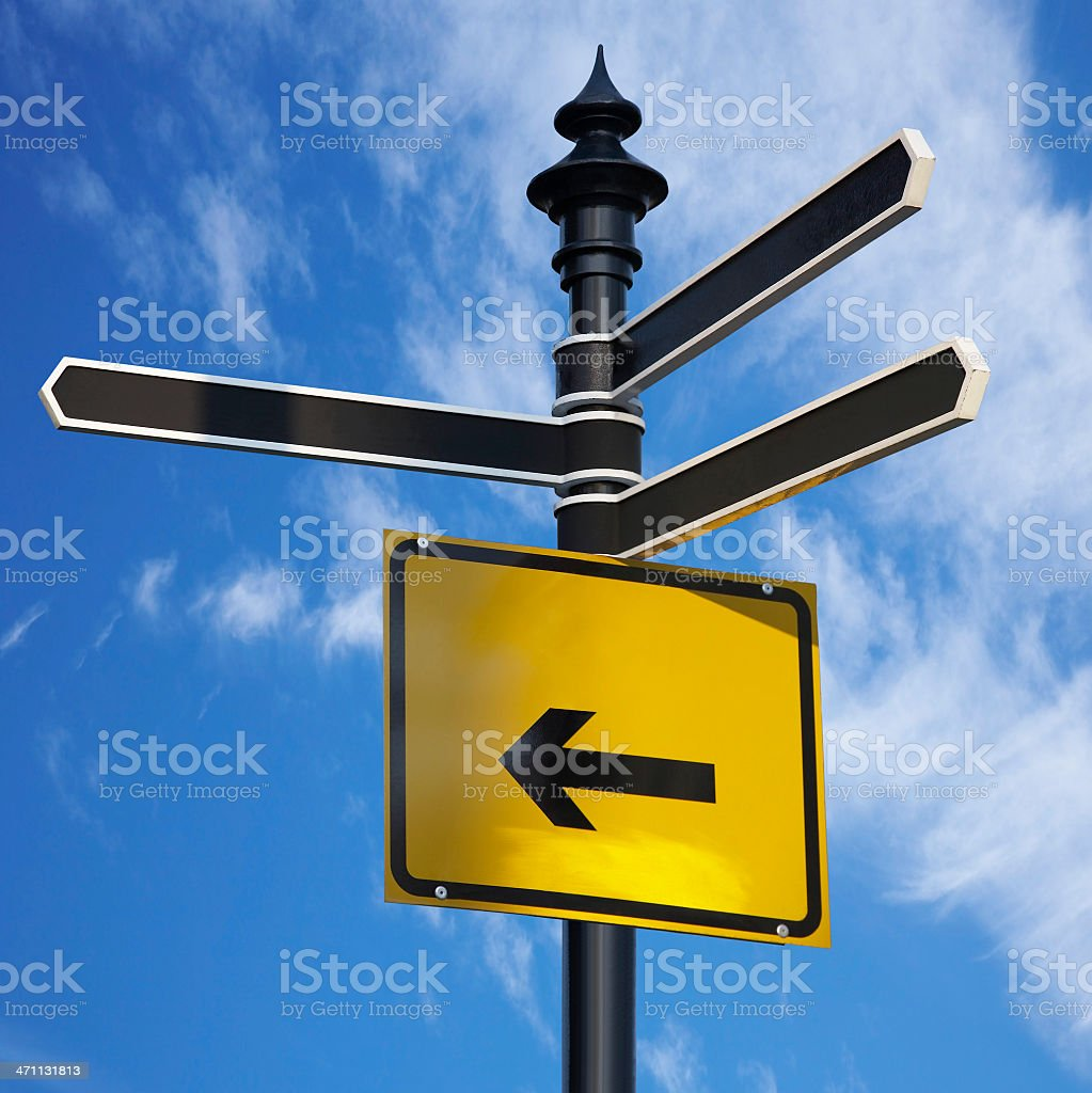 Blank signs royalty-free stock photo