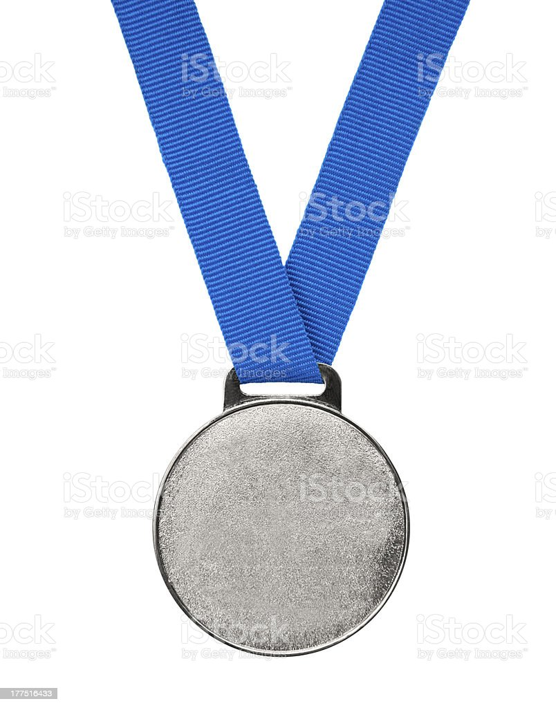 Blank silver Medal stock photo