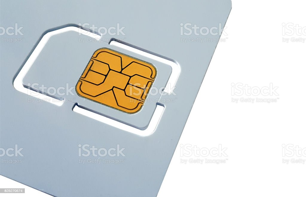 Blank sim card template stock photo