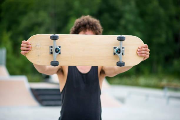 Blank Skateboard stock photo