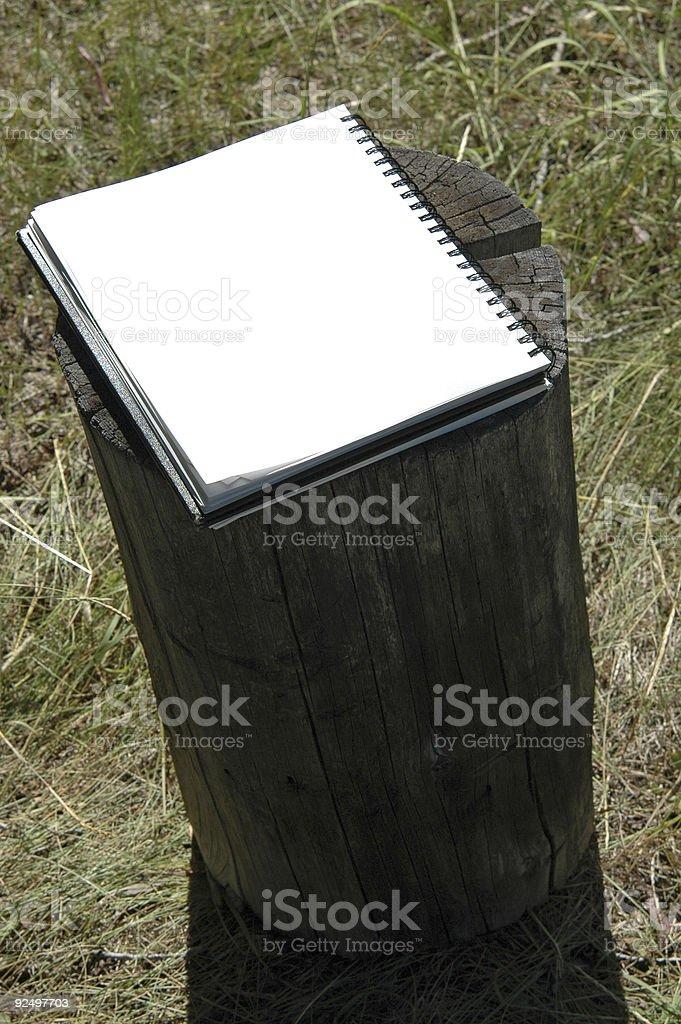 blank sketchbook royalty-free stock photo