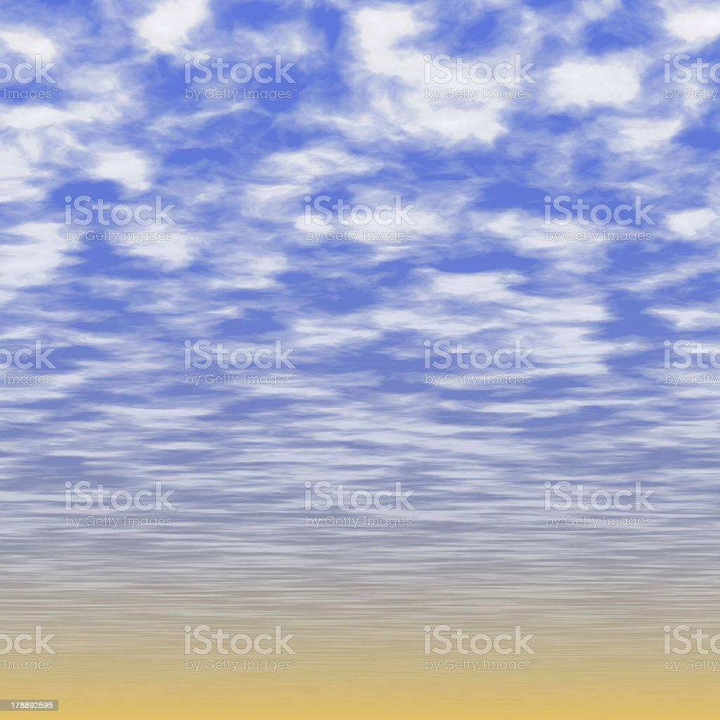 Blank sky surface with small clouds royalty-free stock photo