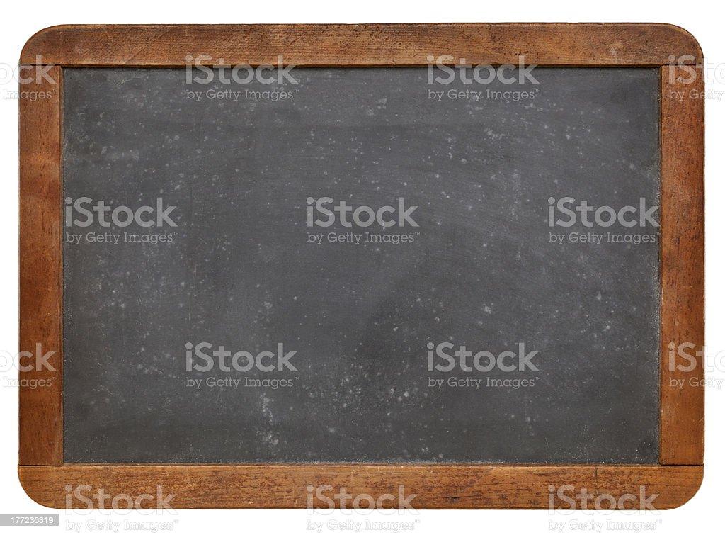 Blank slate blackboard with wooden frame royalty-free stock photo