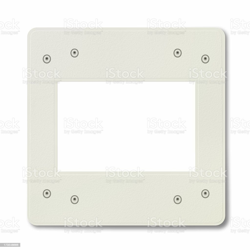 Blank Slide Frame With Snaps royalty-free stock photo