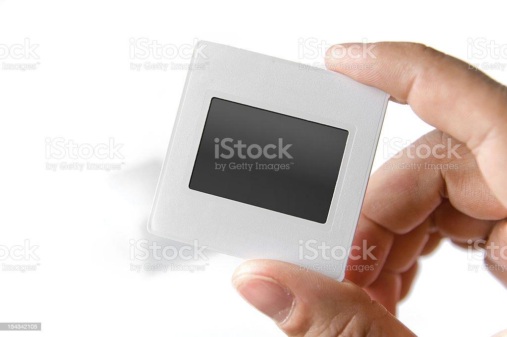 Blank slide, old photo frame stock photo