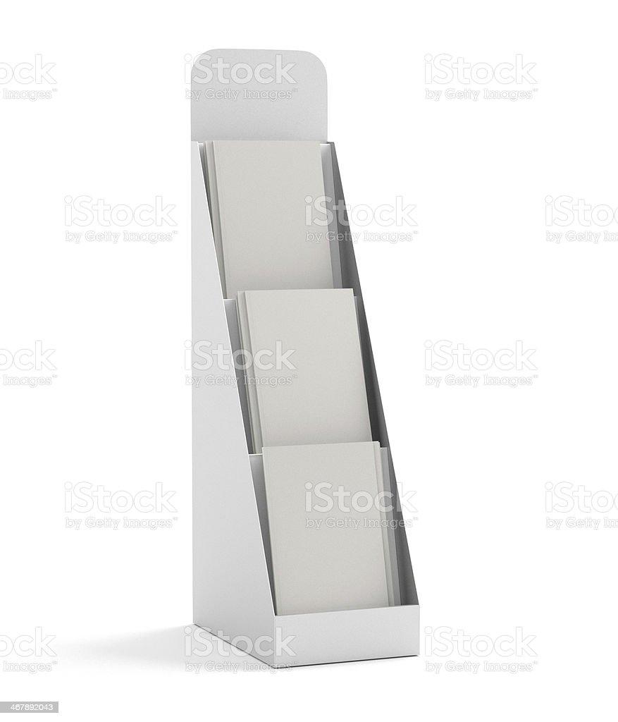 blank small rack or display stock photo