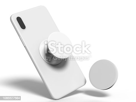 Blank smart phone pop socket stand and holder for branding.