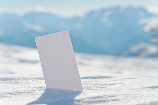 Leere Schnee business-ticket – Foto