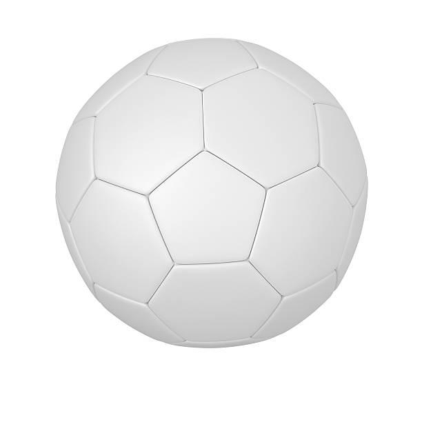 Blanco pelota de fútbol - foto de stock