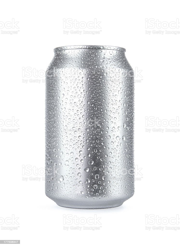 Blank soda can with copy space stock photo