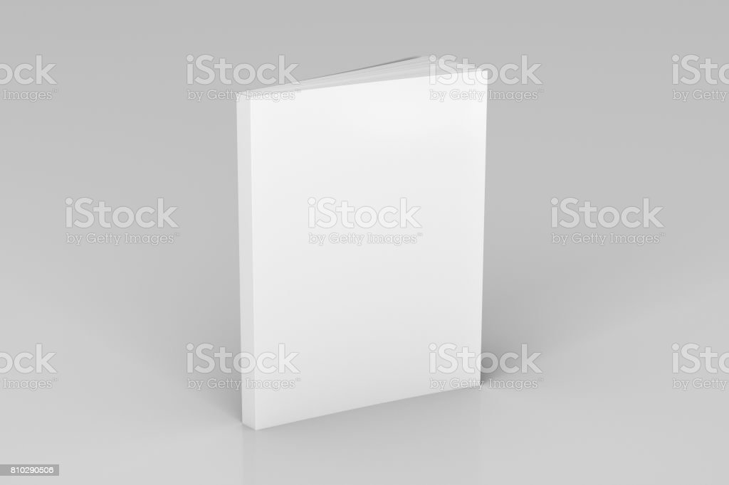 Blank soft color book standing stock photo